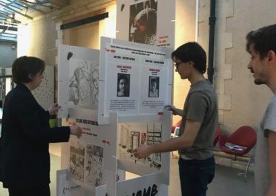 Expo De plomb et de sang Installation